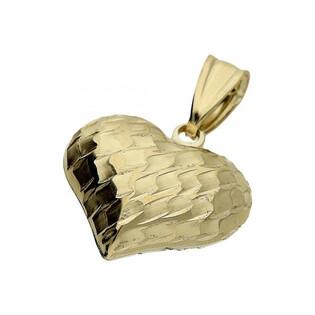 Serduszko złote grawerowane nr AR 2556-IV-42 próba 333