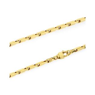 Złoty łańcuszek typu anker OS 273-518 3D próba 585 Sezam - 1