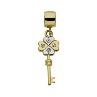 Zawieszka damska złota typu beads numer AR 200453-YW-FCZ-4.30MM