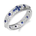 Pierścionek obrączkowy różaniec na palec MB AS0337 b+sz próba 925 Sezam - 1