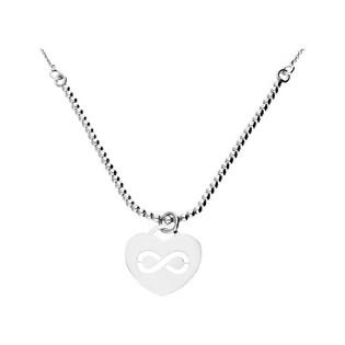 Naszyjnik srebrny z symbolem nieskończoności nr NI487 próba 925 Sezam - 1