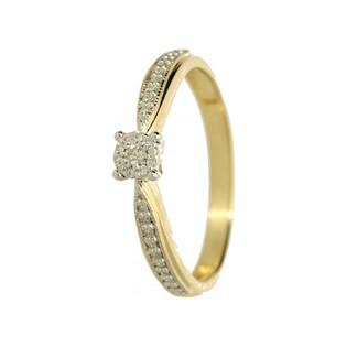 Pierścionek zaręczynowy z diamentami nr MIRAGE DI 325-05 GS próba 585 Sezam - 1
