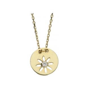 Naszyjnik złoty kółko z cyrkonią nr MZ N-2017-2-CZ próba 333