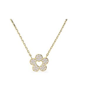 Naszyjnik złoty kwiatek cyrkonie nr AR X5FFOR6N2078-FCZ próba 333