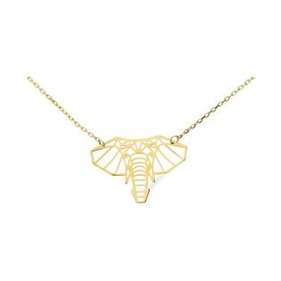 Naszyjnik złoty geometryczna głowa słonia nr AR 0830-II AU 333