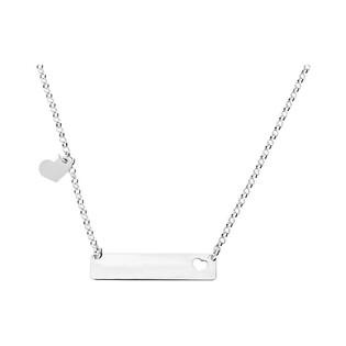 Naszyjnik srebrny blaszka z sercami nr RT CL15619CU rod próba 925 Sezam - 1