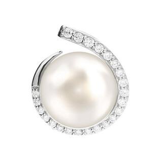 Zawieszka srebrna z perłą białą 10mm w kropli cyrkonii CP PPB96377 próba 925 Sezam - 1