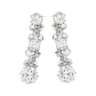 Kolczyki srebrne GRACE z kryształami Swarovski RD 665-1 cal próba 925 Sezam - 1