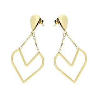 Kolczyki złote serce na łancuszku nr AR 1123 Au 585
