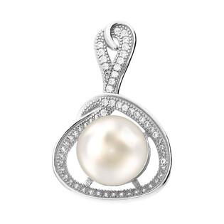 Srebrna zawieszka z perłą białą 11mm z cyrkoniami CP PPB93204 próba 925 Sezam - 1