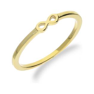 Pierścionek infinity gładka MZ R2017-52 próba 585 Sezam - 1