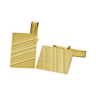 Złote spinki do mankietów prostokątne CB G-066 próba 585 Sezam - 1