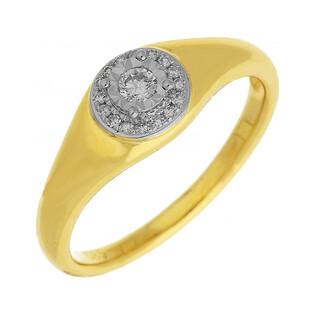 Pierścionek zaręczynowy z diamentami WENUS nr AW 63451 YW GS próba 585 Sezam - 1