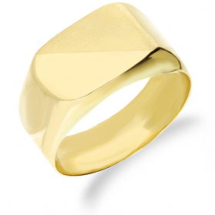 Sygnet złoty prostokąt zaokraglony AR XXVGR0320-L próba 585 Sezam - 1