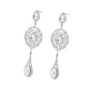 Kolczyki srebrne GRACE z kryształami Swarovski  RD 744+742-1 crystal próba 925 Sezam - 1