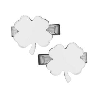 Srebrne spinki do mankietów w kształcie koniczyny MV03 próba 925 Sezam - 1