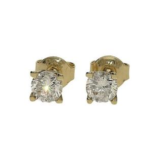 Kolczyki złote z cyrkonią/sztyft nrr MZ T5-E-OS-1-4,50mm-CZ próba 333