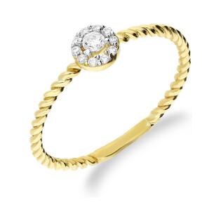 Pierścionek złoty kwiatek z cyrkoniami nr AR X7-X8ZR200377-YW próba 375