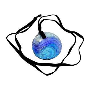 Naszyjnik OVER kółko+aksamitka KQ006 niebieski
