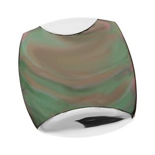 Zawieszka mała kwadrat obły z zieloną masą perłową NJ 7438 próba 925
