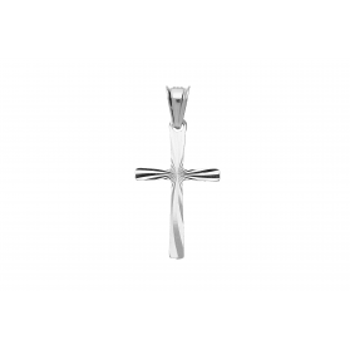 Krzyżyk srebrny gładki MV KD015 próba 925