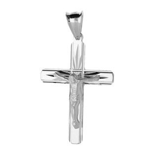 Krzyżyk srebrny z wizerunekiem ram.obłe promienie dis MV GKD055 próba 925
