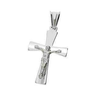 Krzyżyk srebrny z wizerunkiem Jezusa faza ramiona rozszerzone MV GKD057 próba 925