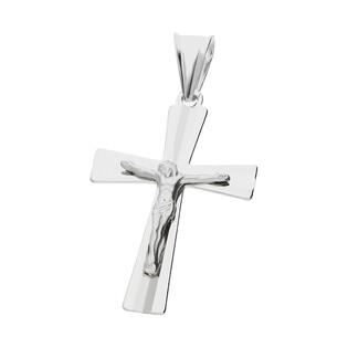 Krzyżyk srebrny fazowany z wizerunkiem MV GKD051 rod próba 925