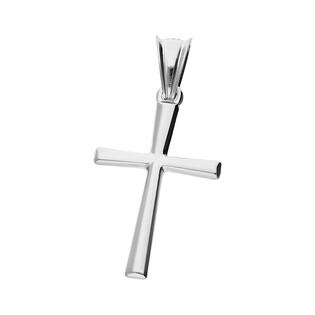 Krzyżyk srebrny gładki wypukły ramiona kwadratowe MV K014 rod próba 925