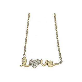 Naszyjnik złoty z kolekcji Fancy nr MZ N-0116-10-LOVE-CZpróba 333