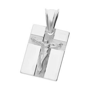 Medalik srebrny blaszka Pan Jezus na krzyżu nr MV GMD106 KK próba 925