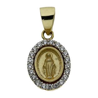 Medalik złoty z wizerunkiem Matki Boskiej Niepokalanej nr AR XALP203160-YW-SM-FCZ próba 333
