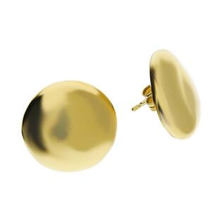 Kolczyki pinezka blask 20 mm PW 258 gold próba 925