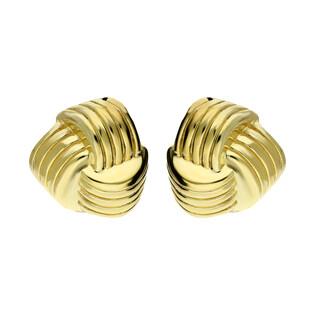 Kolczyki węzeł duży grawerowany PW 260 gold próba 925