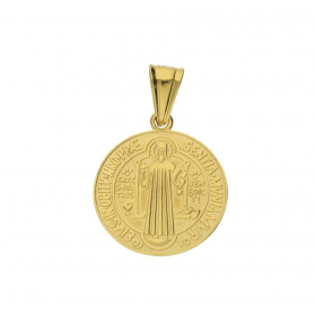 Medalik złoty Benedyktyński nr SF M074-2 próba 585