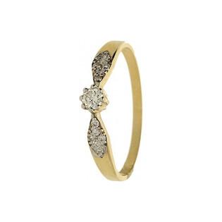 Pierścionek zaręczynowy z diamentami SOLITER DI 273-05 próba 585