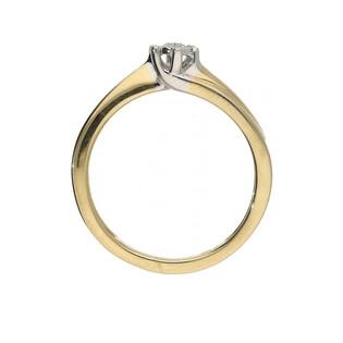 Pierścionek zaręczynowy z brylantem SOLITER Magic KU 55402 próba 585 SOLITER