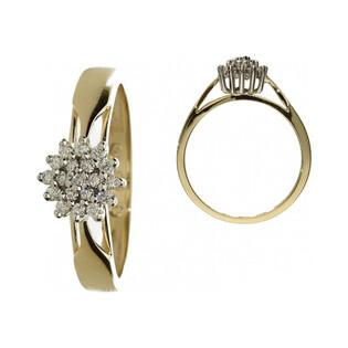 Pierścionek zaręczynowy z diamentami BRIDELL nr FU B0114 próba 585 BRIDELL