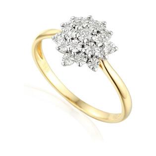 Złoty pierścionek motyw BRIDELL Magic z diamentami AW 49568 YW próba 585 BRIDELL