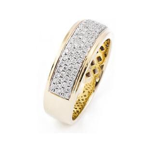 Pierścionek złoty zaręczynowy z diamemtami LINE FR 03678-51-0008 próba 585 LINE