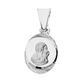Medalik srebrny z wizerunkiem Matki Boskiej Częstochowskiej nr MV GMD139 rod próba 925
