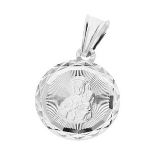 Medalik srebny z wizerunkiem Matki Boskiej Częstochowskiej nr MV MD257 próba 925