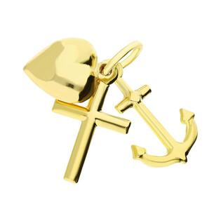 Medalik złoty Wiara Nadzieja Miłość nr CB B-287-1 próba 333