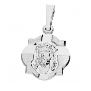 Medalik srebrny Pan Jezus beczułka nr PW 206 próba 925