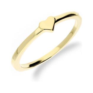 Pierścionek złoty z gładkim sercem nr MZ R2017-51 próba 333