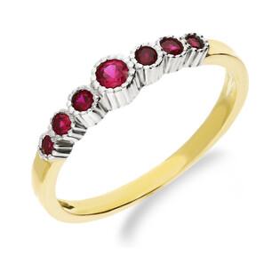 Złoty pierścionek z różowymi cyrkoniami NB 501312 próba 333