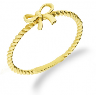 Pierścionek złoty kokardka nr AR 6007 próba 333