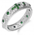Pierścionek srebrny różaniec MB AS0334 b+ziel KK próba 925