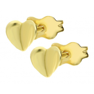 Kolczyki złote serduszka sztyft nr AR X3E12062 próba 585