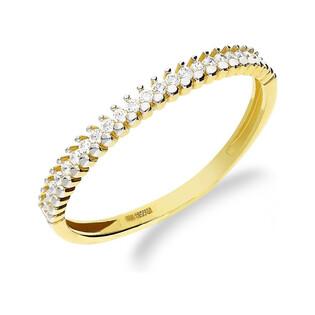 Pierścionek złoty rings z cyrkoniami nr AR AALR205027-YW-FCZ próba 585